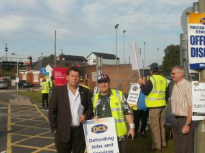 Dave supports striking PCS members