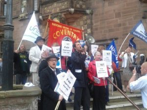 Teachers lobby Coventry City Council today
